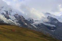 Jungfrau. The Jungfrau, the Eiger and the Mönch from Kleine Scheidegg Royalty Free Stock Photos