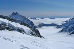 Jungfrau-Eisenbahn, Schweizer Alpen stockbild