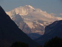 Jungfrau en el crepúsculo Fotografía de archivo