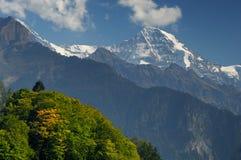 Jungfrau Gebirgsmassiv stockfoto