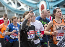 Jungfrau-Geld-London-Marathon 24. April 2016 Stockfotos