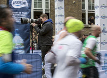 Jungfrau-Geld-London-Marathon, am 24. April 2016 Lizenzfreie Stockfotos