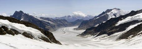 Jungfrau glaciär Royaltyfria Bilder