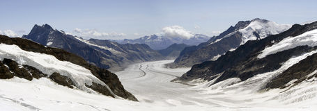 Jungfrau glacier Royalty Free Stock Images