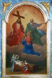 Jungfrau heiraten und Heilige Dreifaltigkeit Lizenzfreies Stockfoto