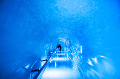 Jungfrau Ice Palace, Ice cave at Jungfraujoch. Jungfrau Ice Palace, the ice cave under Jungfrau peak stock photo