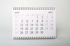 jungfrau Kalendarz rok dwa tysiące siedemnaście fotografia stock