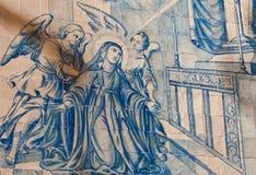 Jungfrau Maria mit Engeln Stockfotografie