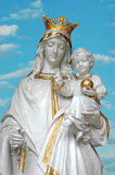 Jungfrau Maria u. Jesus Stockfoto
