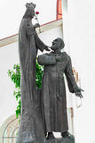 Jungfrau Maria und Vater pio Stockfotos