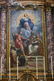 Jungfrau- Mariamalerei innerhalb der Basilika des Heiligen Mary Major Stockbilder