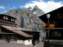 Jungfrau Massief in Murren, Zwitserland Royalty-vrije Stock Foto