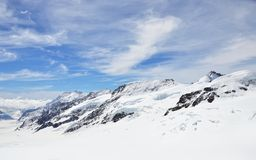 Jungfrau, montagna Fotografie Stock