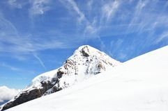 Jungfrau, montagna Immagini Stock