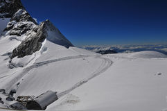 Jungfrau mountain Stock Images
