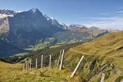Jungfrau Mountains Royalty Free Stock Image