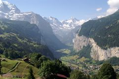 Jungfrau Mountains Stock Photography