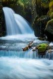 Jungfrau-Nebenfluss fällt in Alaska Lizenzfreie Stockfotografie