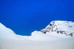 Jungfrau - paesaggio svizzero della montagna della neve delle alpi della Svizzera Fotografia Stock Libera da Diritti