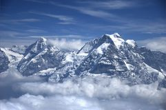 The Jungfrau peak Royalty Free Stock Images
