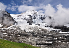 Jungfrau peak in Berner alps, Switzerland Stock Photography