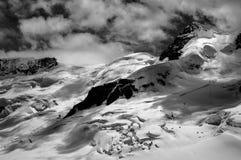 JUNGFRAU REGION. Photo taken from the Jungfrau observation deck, facing the Gletscherhorn peak, located in Switzerland royalty free stock photo