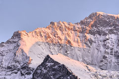Jungfrau shoulder in twilight Royalty Free Stock Photos