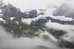 Jungfrau snow mountain Stock Images