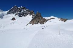Jungfrau Snow Trail Stock Photos