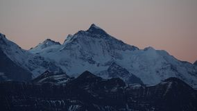Jungfrau before sunrise Royalty Free Stock Photos