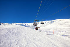 Jungfrau swiss ski Alpine mountain resort, Grindelwald, Switzerland Royalty Free Stock Images