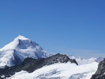 jungfrau switzerland Η κορυφή του βουνού στοκ εικόνες