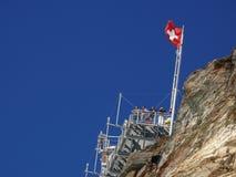 Jungfrau, Switzerland 08/06/2009 Ponto de observação em Jungfrau foto de stock royalty free