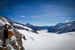 Jungfrau - top de Europa foto de archivo libre de regalías
