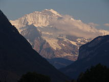 Jungfrau at Twilight Stock Photography