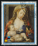 Jungfrau und das Kind durch Jan Gossaert Lizenzfreie Stockbilder