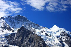 North face of Mt. Jungfrau, Switzerland. Royalty Free Stock Photo