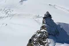 Jungfrau weather station Royalty Free Stock Photography