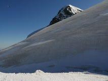 Jungfrau, Zwitserland 08/06/2009 De bovenkant van de berg stock afbeelding