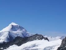 Jungfrau, Zwitserland De bovenkant van de berg stock foto
