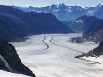 Jungfrau, Zwitserland De Gletsjer van Aletsch stock foto's
