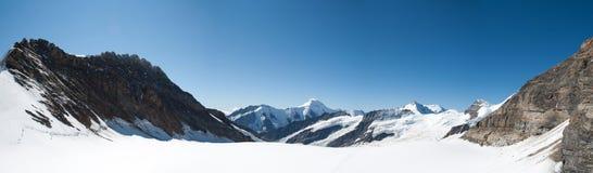 Jungfraujoch, alpi svizzere Fotografia Stock