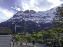 Jungfraujoch berg Arkivbilder