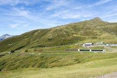 Jungfraujoch-Eisenbahn, die Schweiz lizenzfreies stockbild