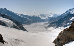 Jungfraujoch Gletscher, die Schweiz Lizenzfreies Stockbild