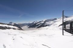 Jungfraujoch-Hochebene, die Schweiz Stockfotografie