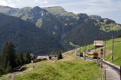 Jungfraujoch kolej Obrazy Royalty Free