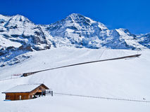 jungfraujoch kolejowy Switzerland zdjęcia stock