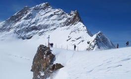 Jungfraujoch, la parte superiore di Europa fotografia stock libera da diritti