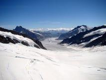 Jungfraujoch, Oberseite von Europa, die Schweiz Stockbild